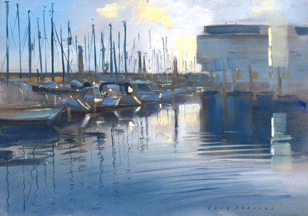 """ Brighton Marina "" - Framed painting in oil by Tony Parsons"