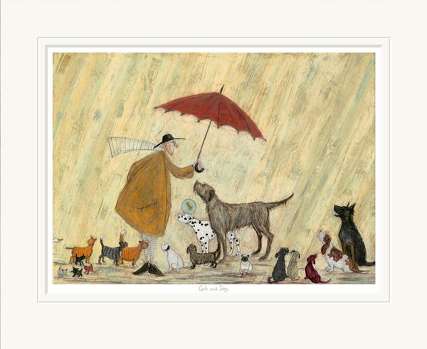 Cats and Dogs  - Limited Edition Print by Sam Toft