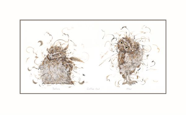 Coffee Owl - Limited Edition Print by Aaminah Snowdon – image 1