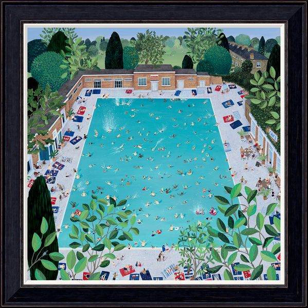 Brockwell Lido - Limited Edition print by Jenni Murphy