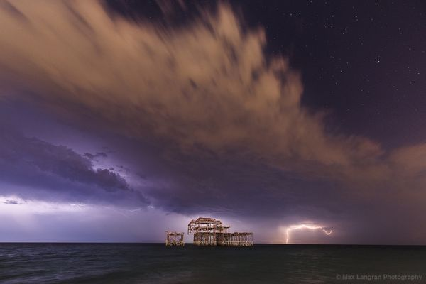 Lightning Over West Pier XI by Max Langran
