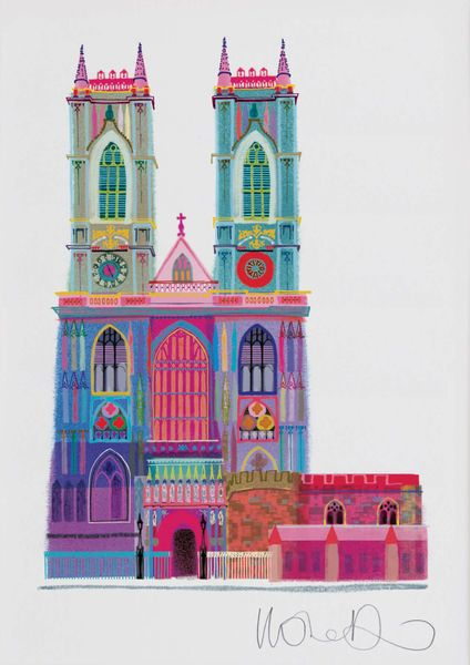Westminster Abbey  - Artprint by Ilona Drew from the ' I Drew This '  Landmark Series