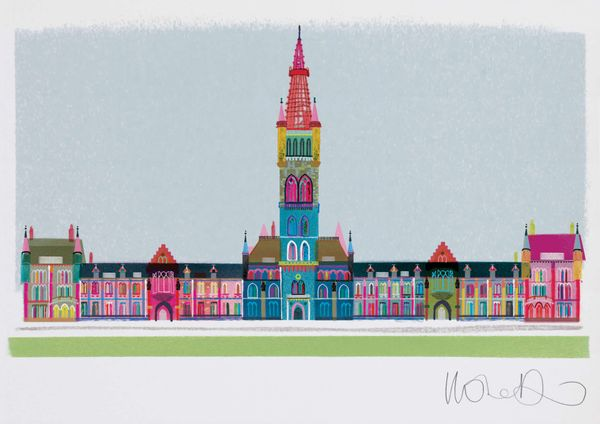 Glasgow University  - Artprint by Ilona Drew from the ' I Drew This '  Landmark Series