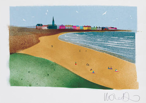 Longsands  - Artprint by Ilona Drew from the ' I Drew This '  Landmark Series