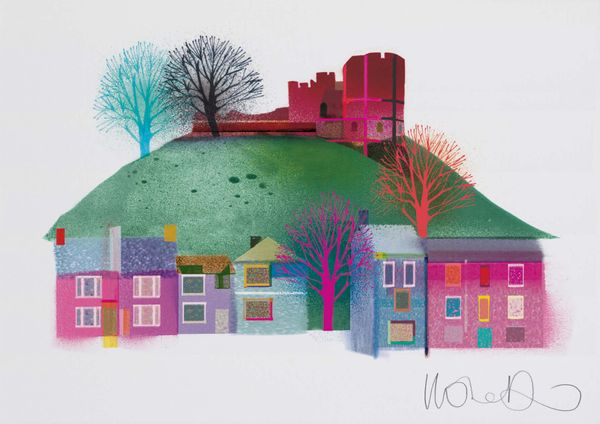 Lewes Castle  - Artprint by Ilona Drew from the ' I Drew This '  Landmark Series