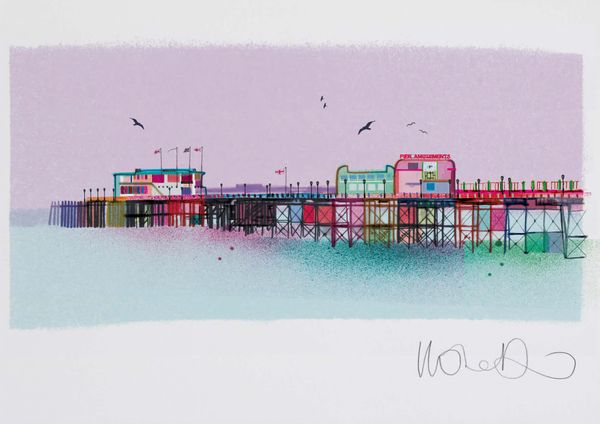 Worthing Pier  - Artprint by Ilona Drew from the ' I Drew This '  Landmark Series