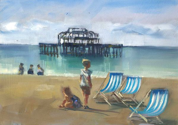 'Children at West Pier' by Tony Parsons