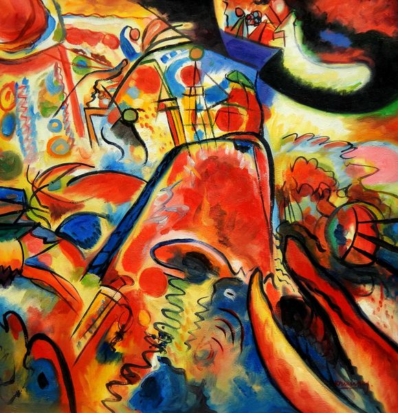 """Wassily Kandinsky - Small  pleasures 36x36 """" oil painting"""