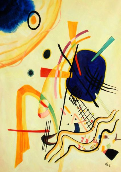 """Wassily Kandinsky - Untitled 1921 32x44 """" oil painting"""