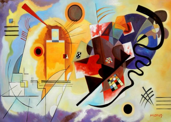 """Wassily Kandinsky - Yellow Red Blue 32x44 """" oil painting"""