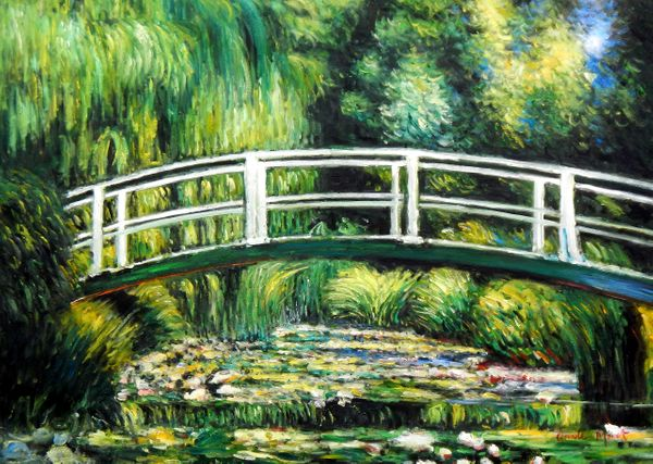 "Claude Monet - Bridge Over The Water Lily Pond 32x44 "" oil painting"