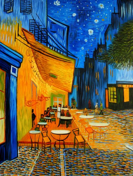 """Vincent van Gogh - Cafe Terrace at Night 36x48 """" oil painting"""