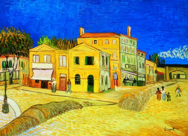 """Vincent van Gogh - The Yellow House 36x48 """" oil painting"""