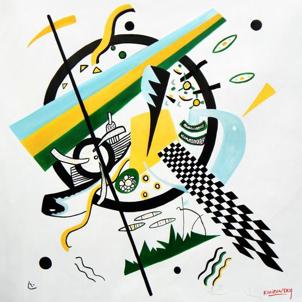 """Wassily Kandinsky - Small Worlds 48x48 """" oil painting"""