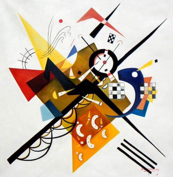 """Wassily Kandinsky - balance in composition 48x48 """" oil painting"""