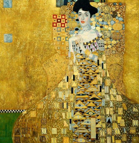 "Gustav Klimt - Adele Bloch Bauer I 48x48 "" oil painting museum quality"