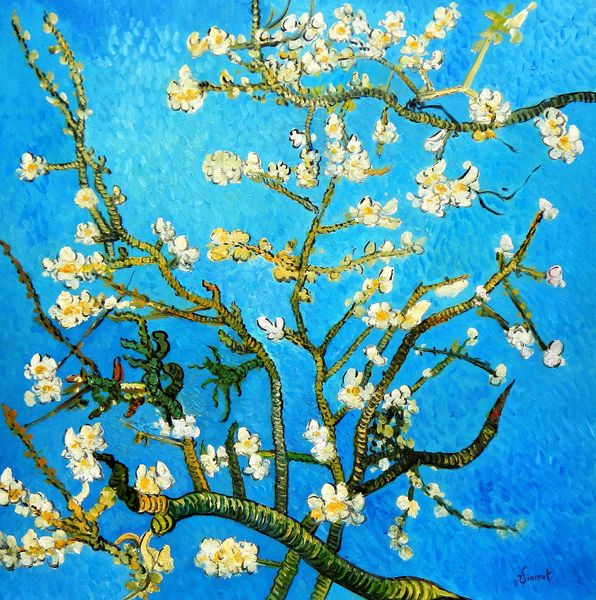 """Vincent van Gogh - Branches with Almond Blossom 48x48 """" oil painting"""