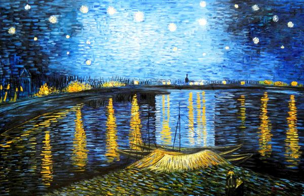 """Vincent van Gogh - Starrynight 48x72 """" oil painting"""