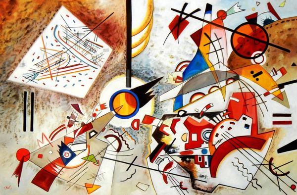 "Wassily Kandinsky - Busy Watercolor 1923 48x72 "" oil painting"