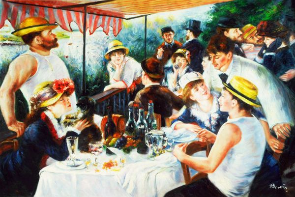 "Pierre Renoir - Luncheon of the Boating Party 48x72 "" oil painting museum quality"
