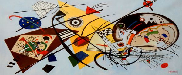 "Wassily Kandinsky - Transverse Line 30x72 "" oil painting"