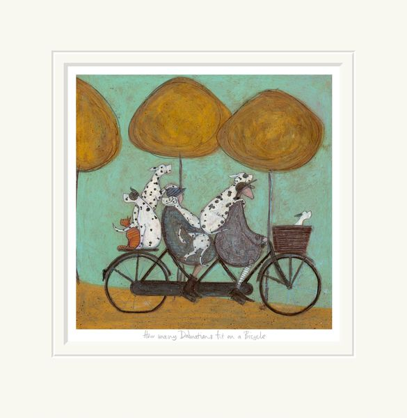 How Many Dalmatians Fit on a Bicycle? - Limited Edition Print by Sam Toft
