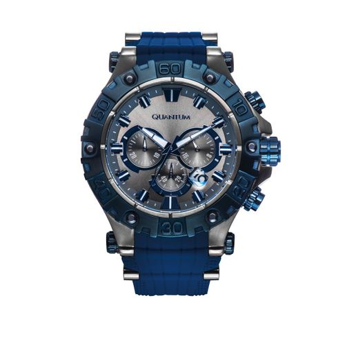 Quantum HUNTER,grey/blue, 50x55mm, silicone blue