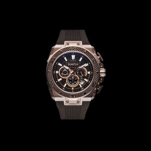 Quantum HUNTER, gold/black, 51x59mm, silicone brown