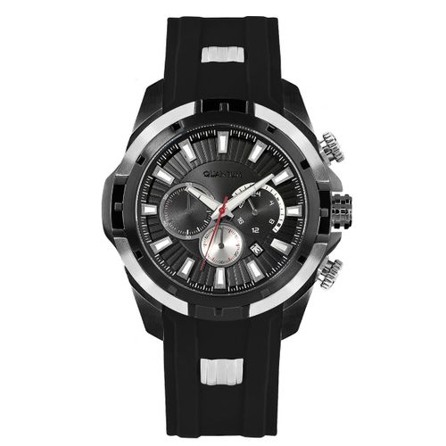Quantum HUNTER, steel-matted/black, 50 mm, silicone black with steel-matted application