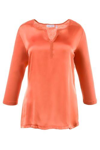 Gina Laura Shirt Webeinsatz 3/4 Arm orange NEU