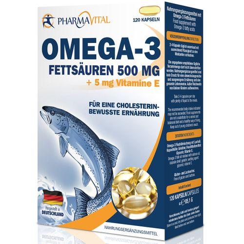 Pharmavital Omega-3 500 mg + Vit. E 120 Stück