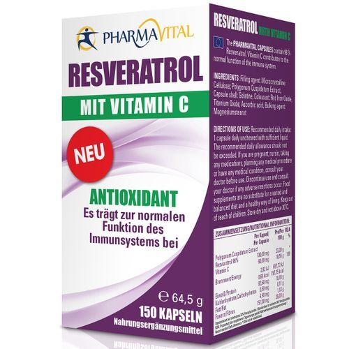 Pharmavital Resveratrol Forte + Vitamin C 150 Stück
