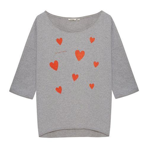 OH YEAH! Sweater Hearts Grau Melange