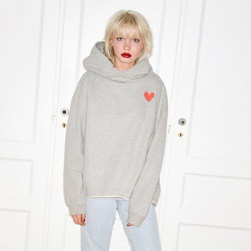 OH YEAH! Sweater Small Heart Grau Melange