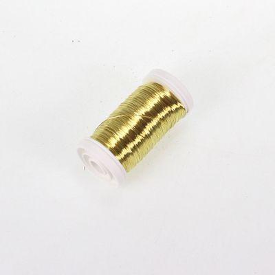 Myrtendraht Golddraht Dekodraht gold 100g Spule 0,3mm