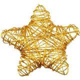10 Drahtsterne Draht Sterne Streudeko 55mm gold Advent