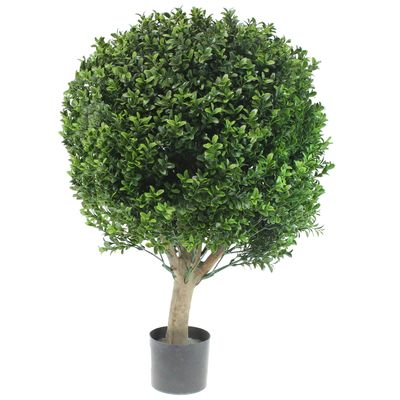 Buchskugel Buchsbaum Stamm Pflanze Bux Kugel Buxbaum Buchs künstlich H70cm D50cm