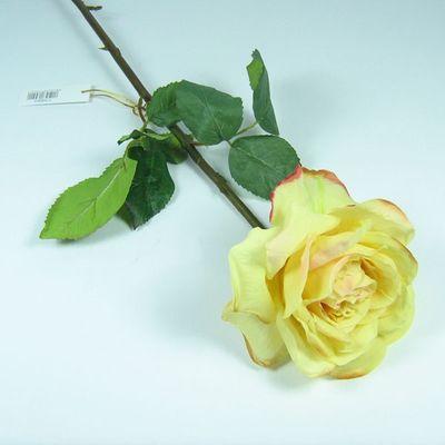 Rose Premium Dutchess künstlich L50cm D13cm gelb