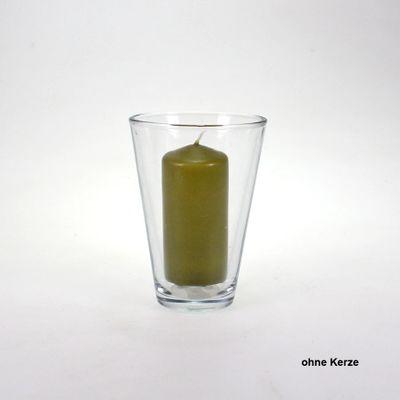Vase Glas Glasvase Windlicht Room D 12 x H 17cm konisch