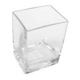 Vase Glas Vierkant Matrix Windlicht Glasvase 10cm x 8cm H 14cm
