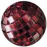 12 x Spiegelkugel Spiegelball Streudeko Tisch 40mm dunkelrot weinrot
