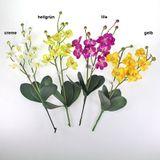 Orchidee Phalaenopsis doppelt künstlich 2-fach Kunstblume ca. 60cm