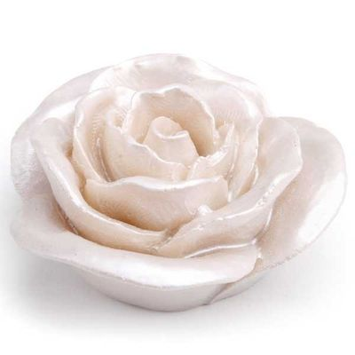 10 Streublüten Streudeko Tischdeko Rose D 5 cm H 2 cm perlmutt glanz
