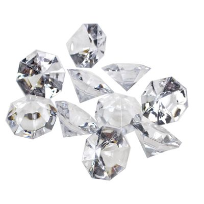 10 Deko Diamanten Acryl 32mm klar Tischdeko Hochzeit Feier