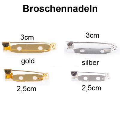 150 Anstecknadeln Broschenadeln Nadeln Schmucknadeln 2,5cm gold oder silber