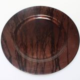 Dekoteller Teller Platzteller Kunststoff rund D 20cm mit 3cm Rand gemustert
