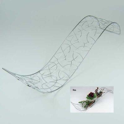 Welle Metall Draht silber Deko Tischdeko Hochzeit Taufe 40 x 10cm