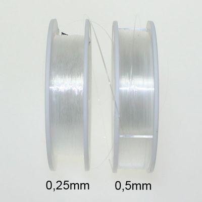 Perlenfaden Perlonfaden Nylonfaden Faden transparent 0,25mm 50m