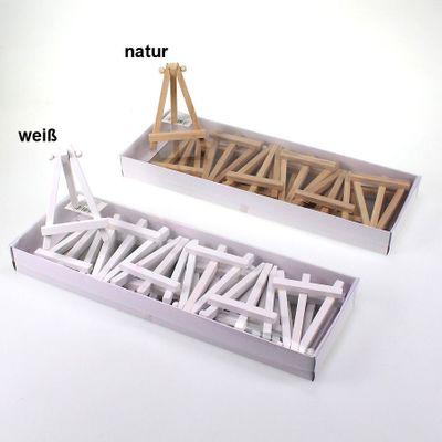 12 Tischkartenhalter Holz Mini Staffelei 11x7cm Kartenhalter Platzkarten Gäste