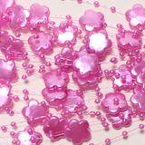 5m Perlengirlande Perlenkette Perlen Blüten Acryl Nylonband Hochzeit Schnur Band